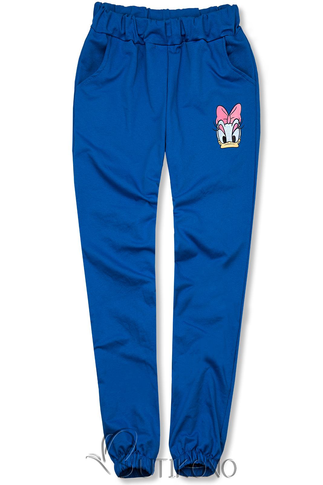 Modré teplákové nohavice