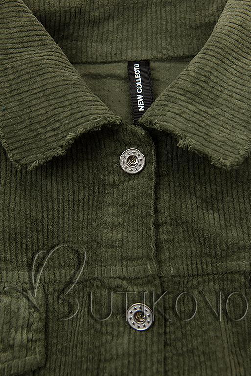 Khaki menčestrová vrchná košeľa