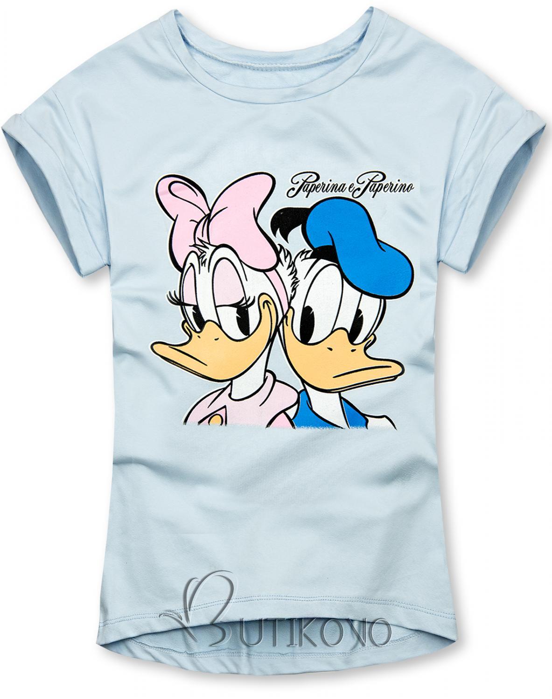 Baby blue tričko Paperina e Paperino