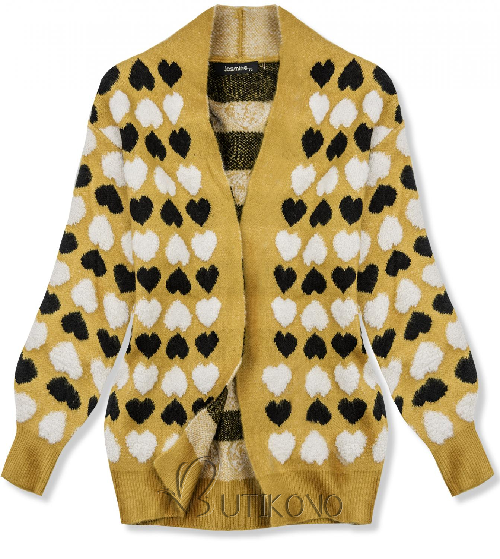 Žltý sveter so srdiečkami