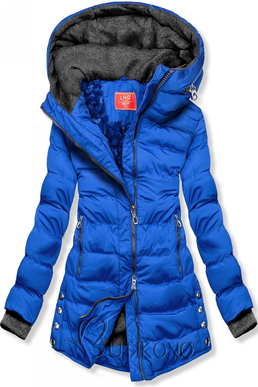 Modrá prešívaná bunda