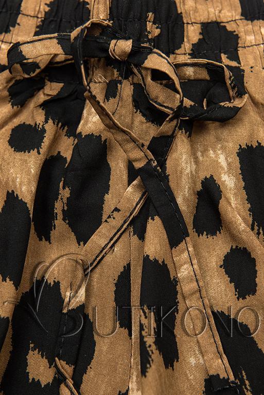 Hnedé šortky so zvieracou potlačou