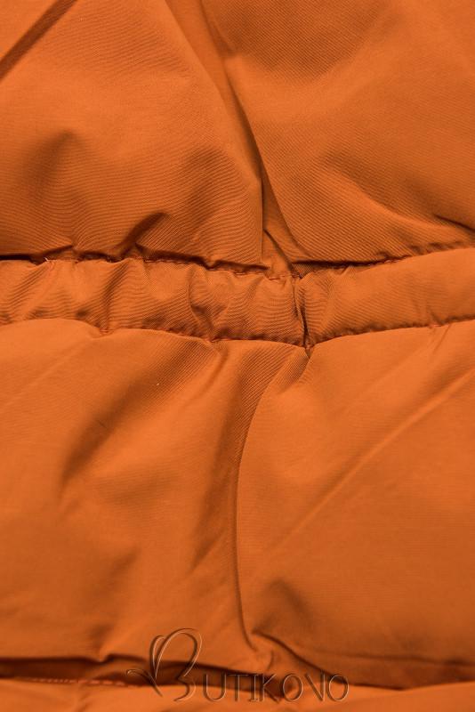 Tehlovo-béžová zimná bunda