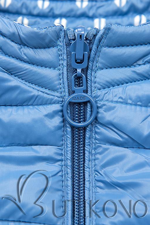 Modrá krátka obojstranná bunda