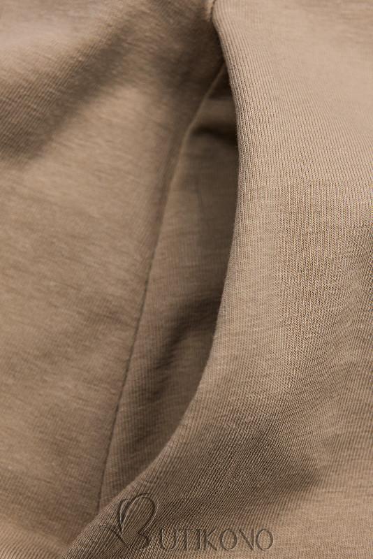 Béžové šaty s motívom tenisiek