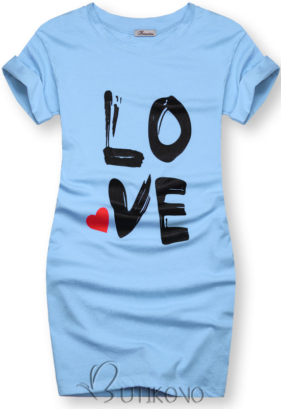 Tunika s potlačou LOVE modrá