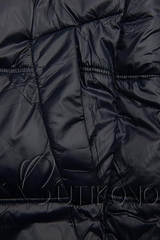 Tmavomodrá lesklá bunda