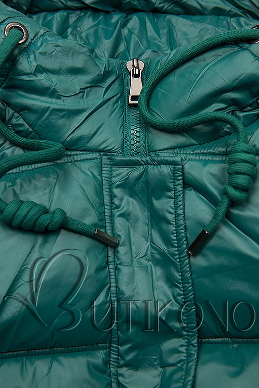 Zelená lesklá bunda