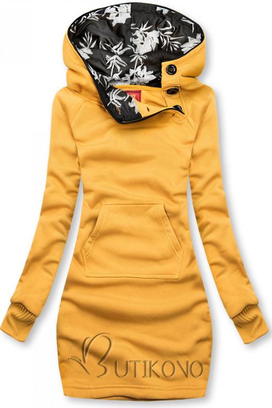 Žltá mikina s obliekaním cez hlavu