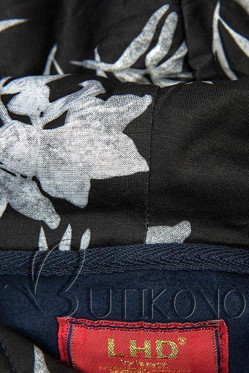 Tmavomodrá mikina s obliekaním cez hlavu