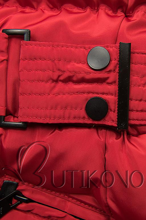 Červená bunda s odopínateľnou kapucňou