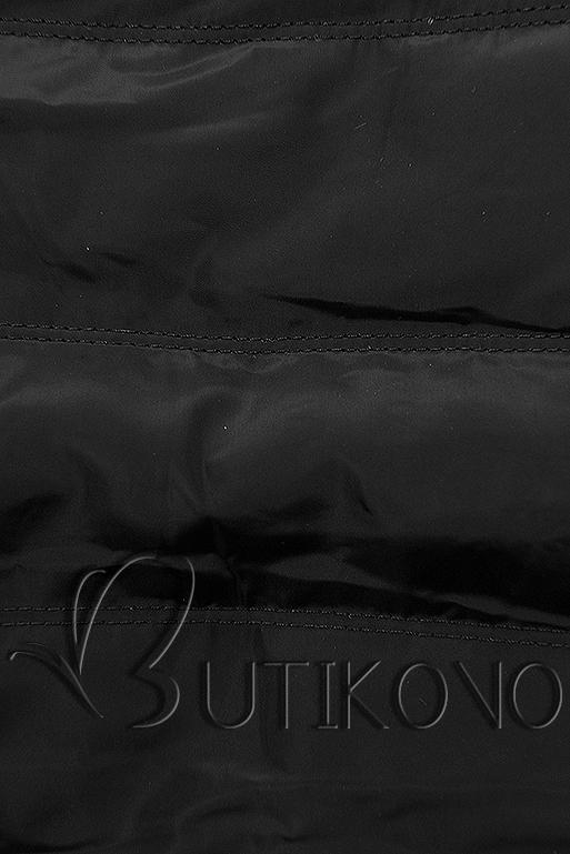 Čierna súprava v kombinovaných materiáloch