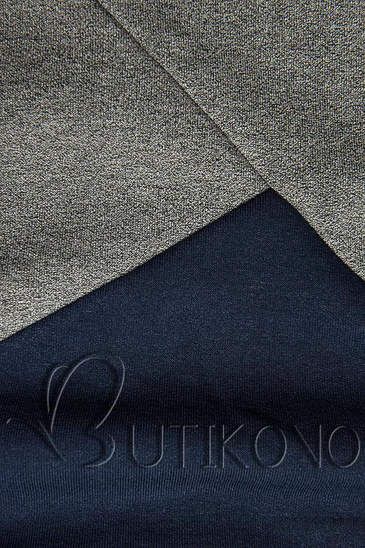 Mikina s obliekaním cez hlavu modrá/sivá/čierna
