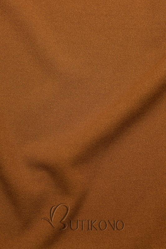 Hnedý top s dlhými rukávmi