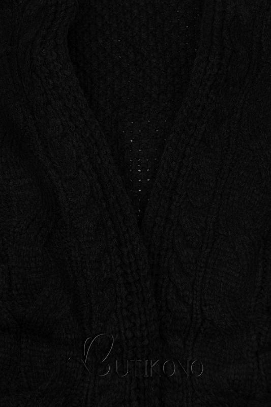 Čierny krátky kardigán