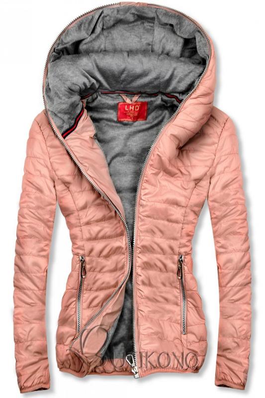 Ružová športová bunda