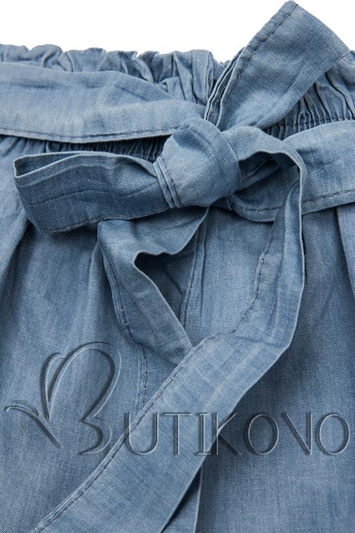 Bavlnené jeans modré šortky