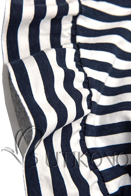 Modro-biele voľné pruhované šaty II.