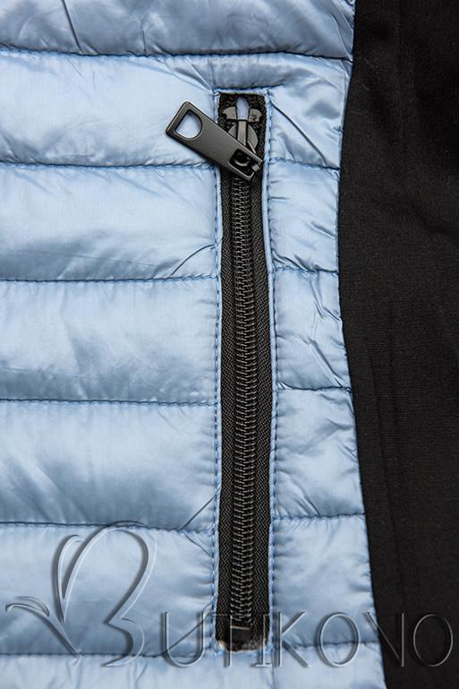 Sivomodrá športová obojstranná bunda