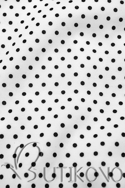 Bodkovaná tepláková súprava biela/čierna