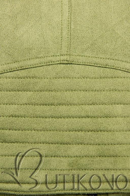 Pistáciovo zelená semišová bunda