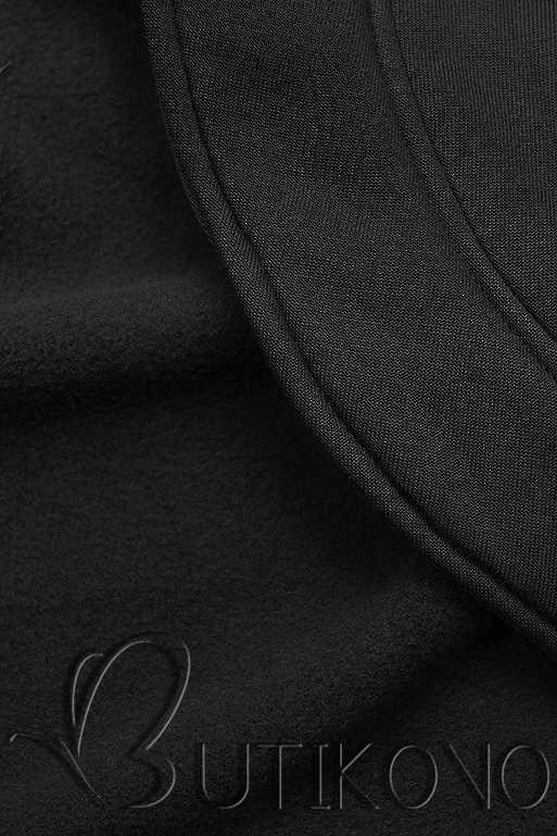 Čierna mikina v asymetrickom strihu