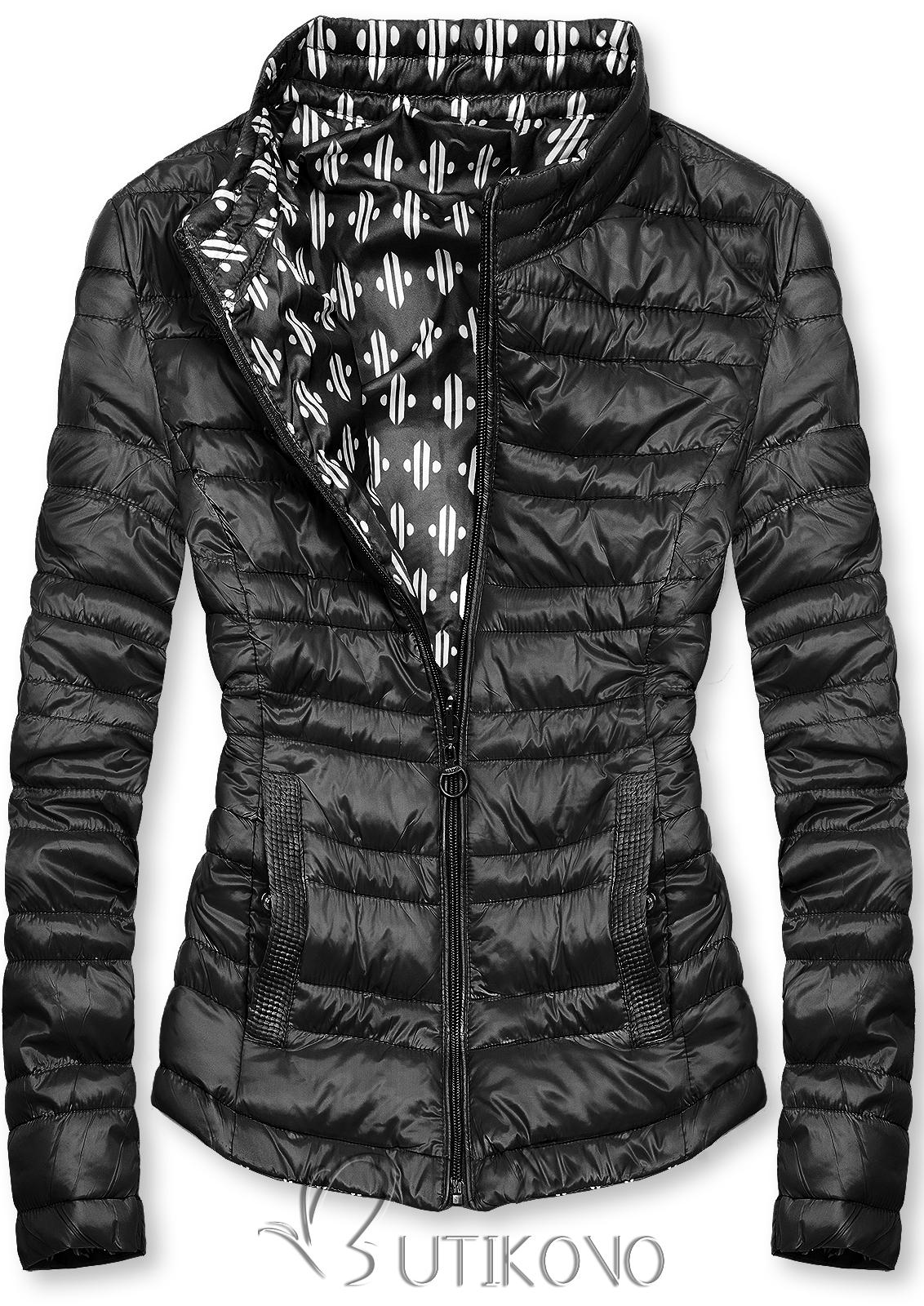 Čierna krátka obojstranná bunda