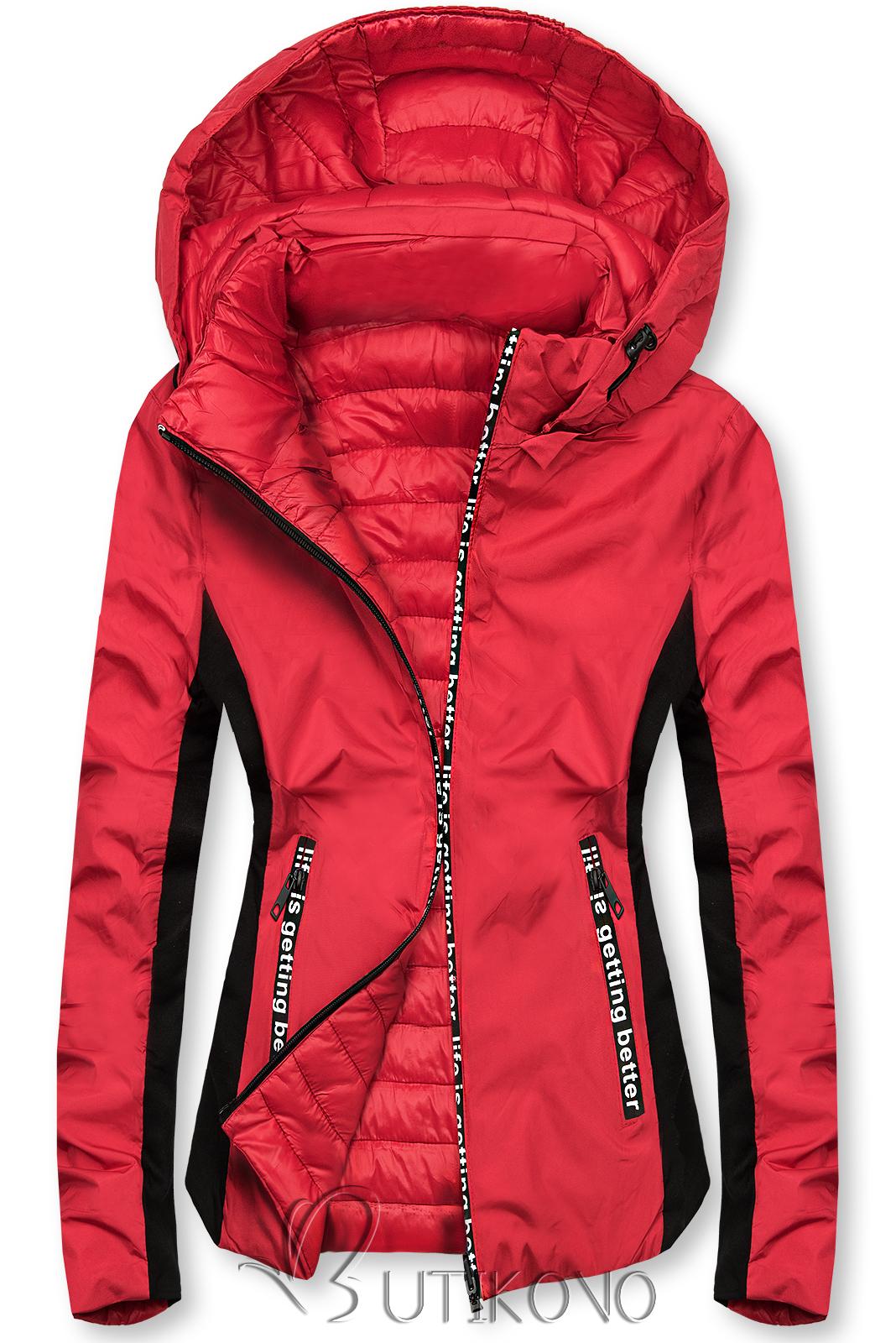 Červená športová obojstranná bunda