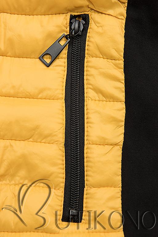 Žltá športová obojstranná bunda