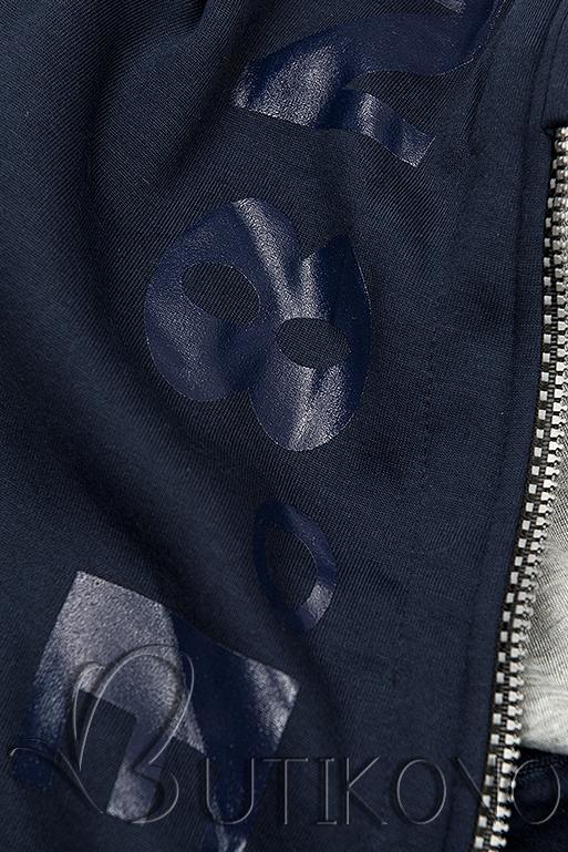 Tepláková súprava s kapucňou tmavá modrá