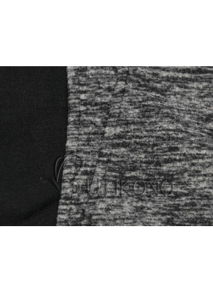 Grafitová mikina s kontrastným zipsom