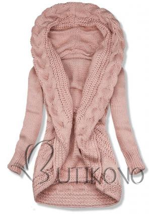 Ružový pletený sveter