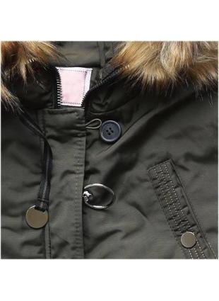 Prešívaná zimná bunda khaki