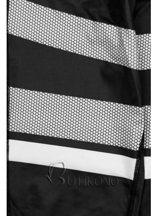 Čierno-biele vzorované legíny