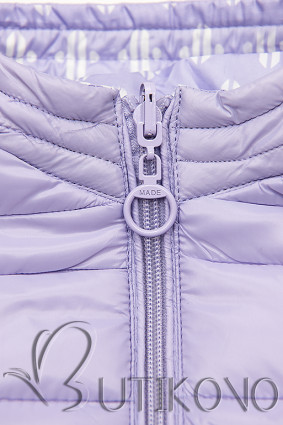 Lila krátka obojstranná bunda