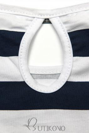 Modro-biele pruhované šaty X.