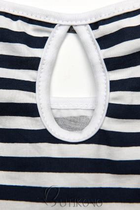 Modro-biele pruhované šaty II.