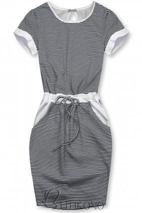 Modro-biele pruhované šaty IV.
