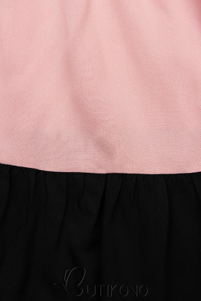 Letné šaty z viskózy biela/ružová/čierna