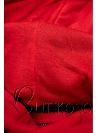 Červeno-čierna pruhovaná tepláková súprava
