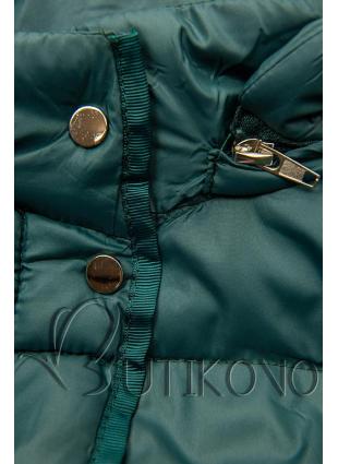 Zelená prešívaná bunda na prechodné obdobie
