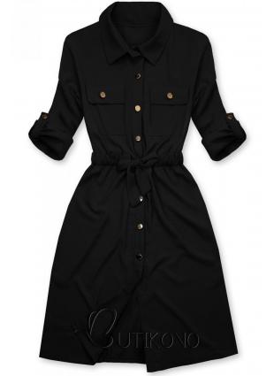 Čierne košeľové šaty