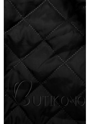Čierny kabát na zaväzovanie