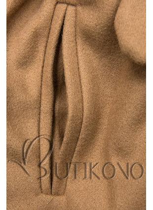 Camel hnedý kabát na zaväzovanie