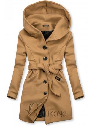 Hnedý kabát s kapucňou