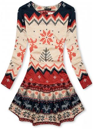 Vzorované šaty s motívom sobov