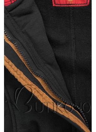 Čierna mikina s kapucňou v predĺženom strihu