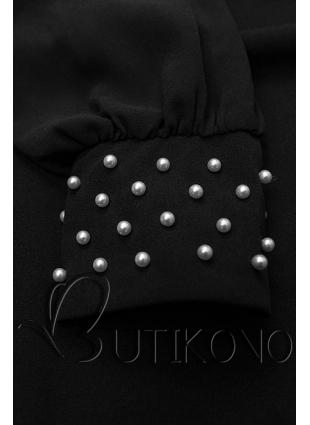 Čierne elegantné šaty v A-strihu