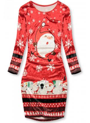 Zamatové šaty SANTA