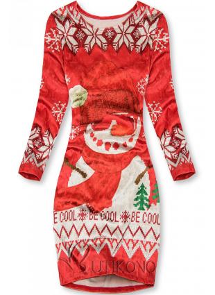 Zamatové šaty BE COOL